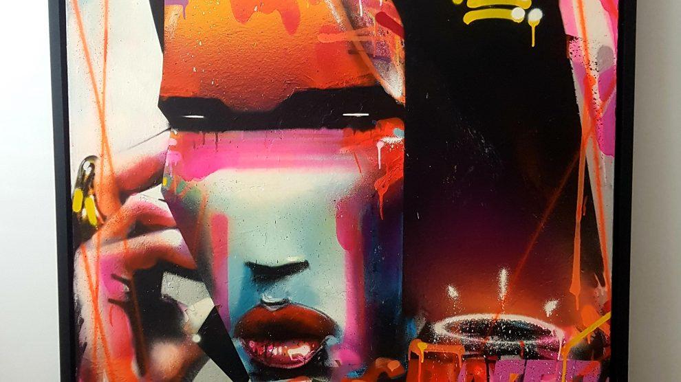 AROE - Graffiti of Marilyn Manson on the Phone