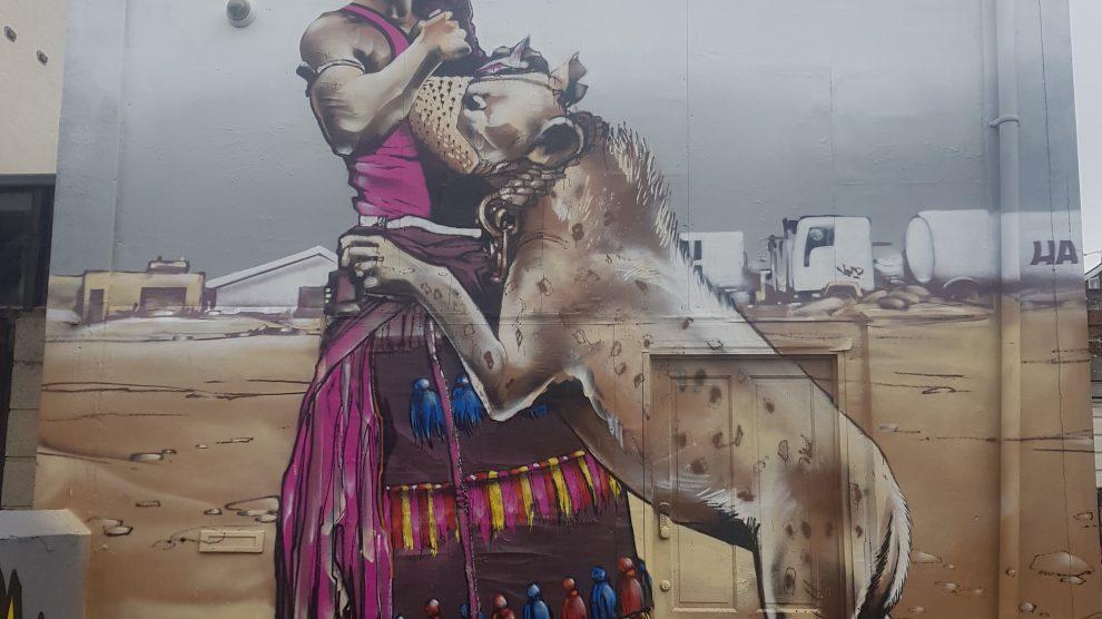 Hyena handler painting