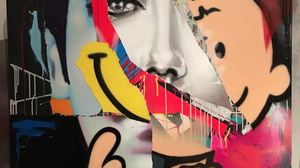 AROE - Graffiti Painting on Canvas